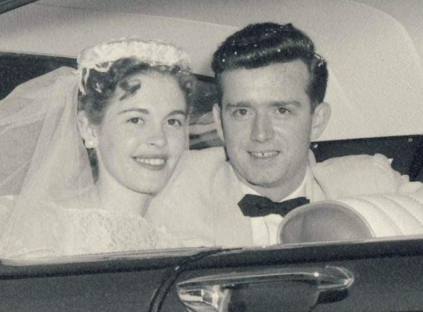 Mom & dad on their wedding day in 1957