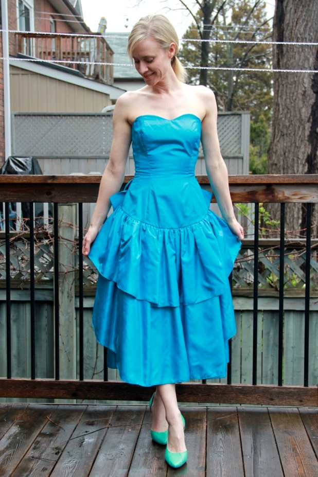 Taffeta prom dress