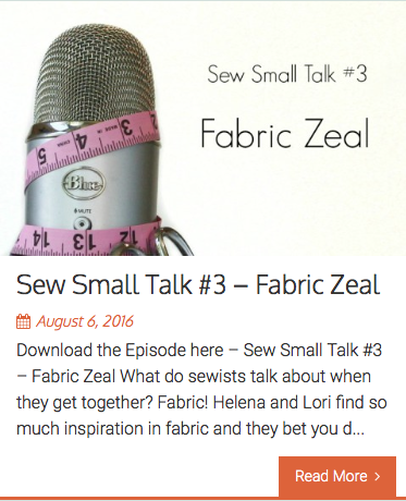 Clothes Making Mavens podcast episode 3: Sew Small Talk - Fabric Zeal