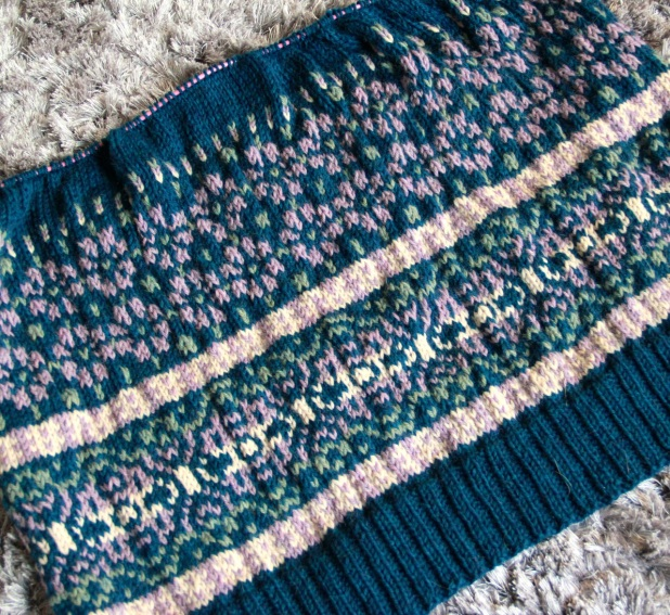 Velvet Morning Cardigan in progress
