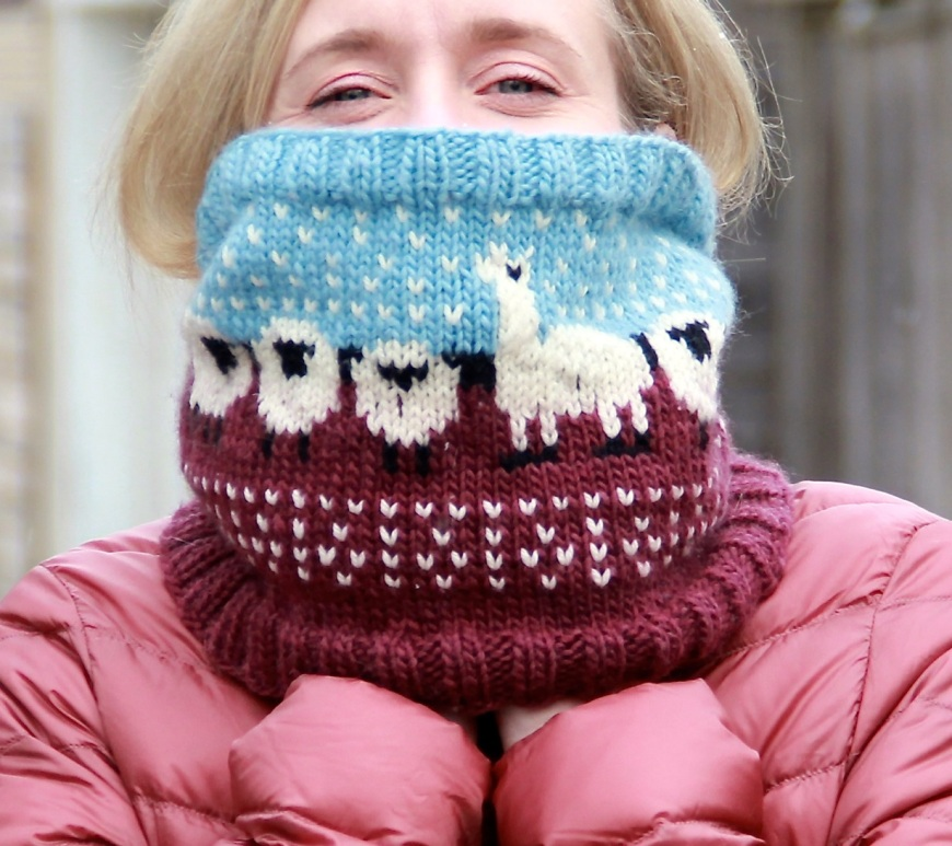 Happy sheep cowl neck warmer