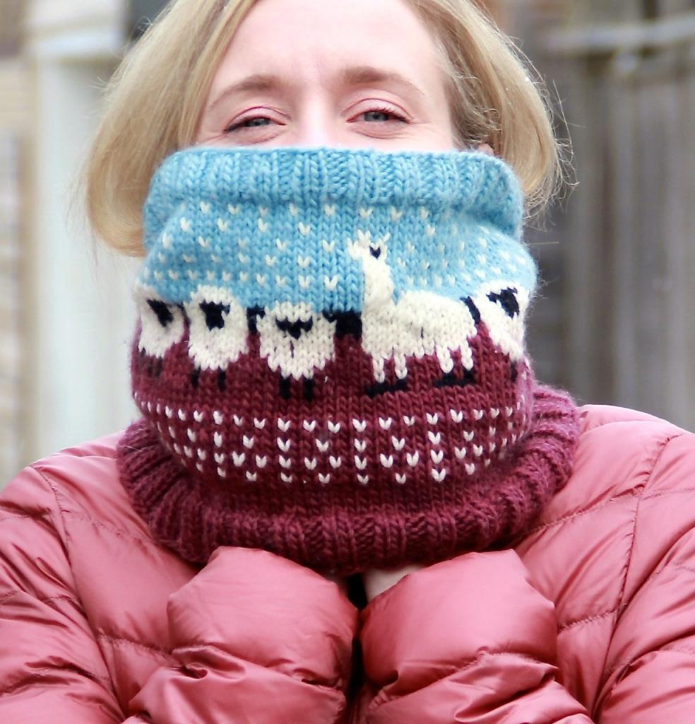 Happy sheep cowl neck warmer