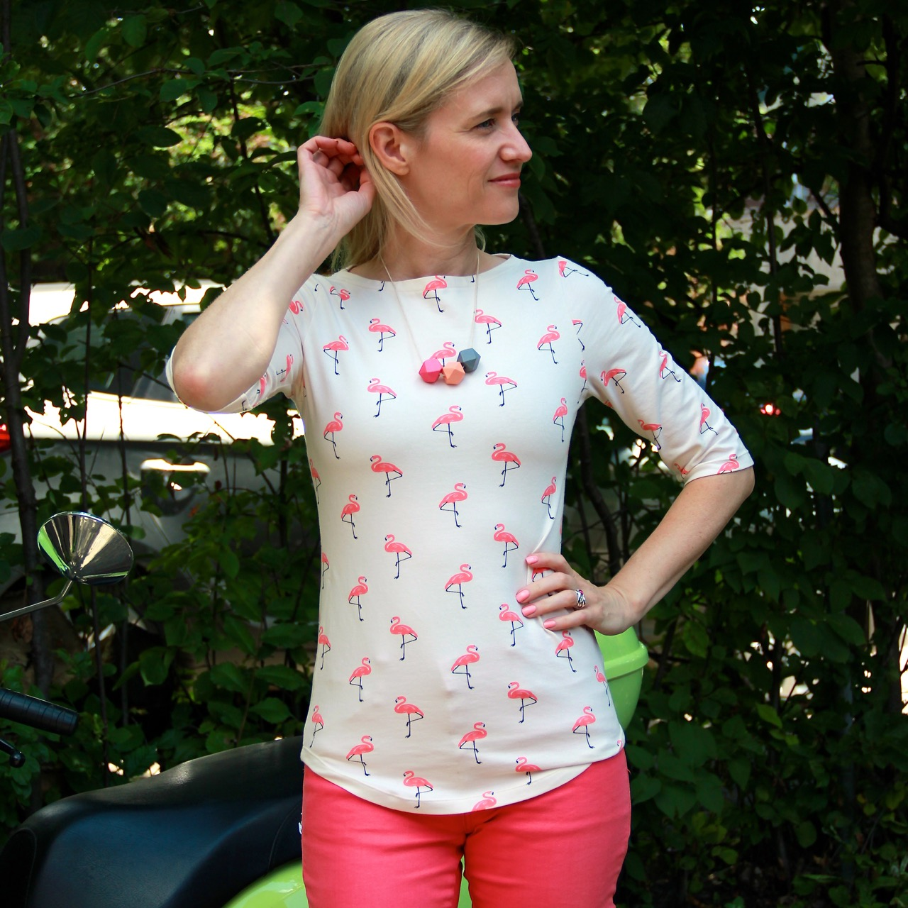 Wardrobe By Me Wardrobe Builder T-shirt with flamingos