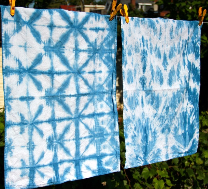 Frivolous at last shibori-dyed tea towels