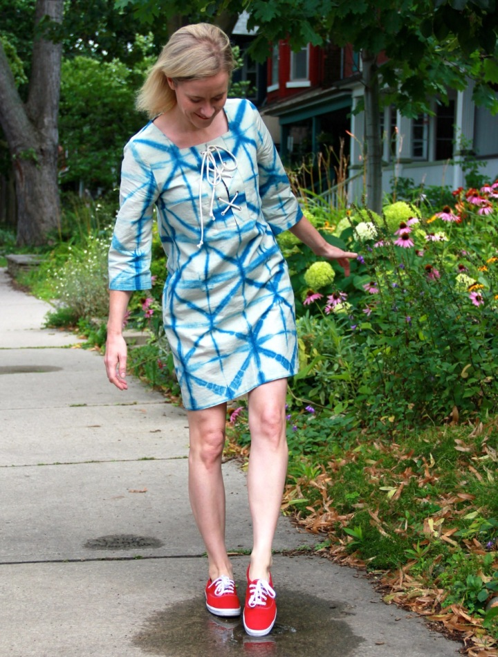 Frivolous At Last - Papercut Skipper Tunic in Shibori cotton linen