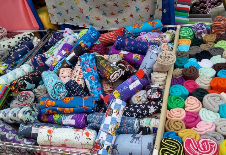 Knit Fabric Remnants in the Turkish Market, Berlin