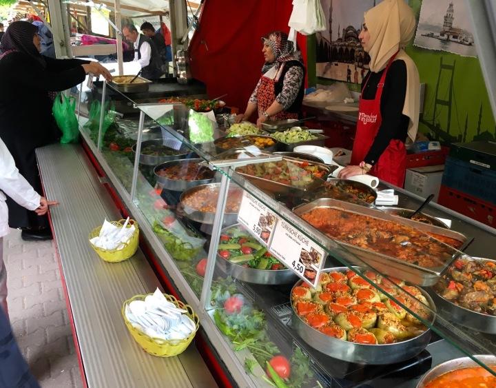 A food vendor in the Turkish Market, Berlin