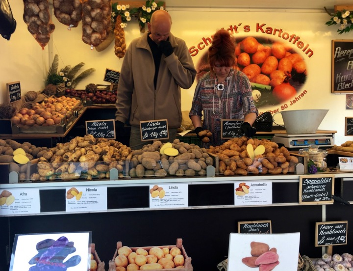 Potato stand in Turkish Market, Berlin