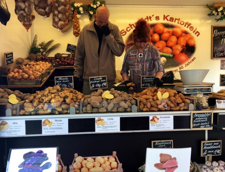 Potato stand in Turkish Market, Berlin