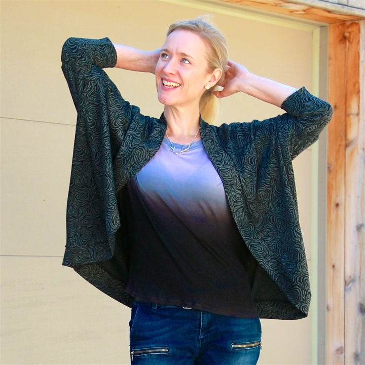 Frivolous at Last - One Hour Ombre Top and Carrie Cardigan