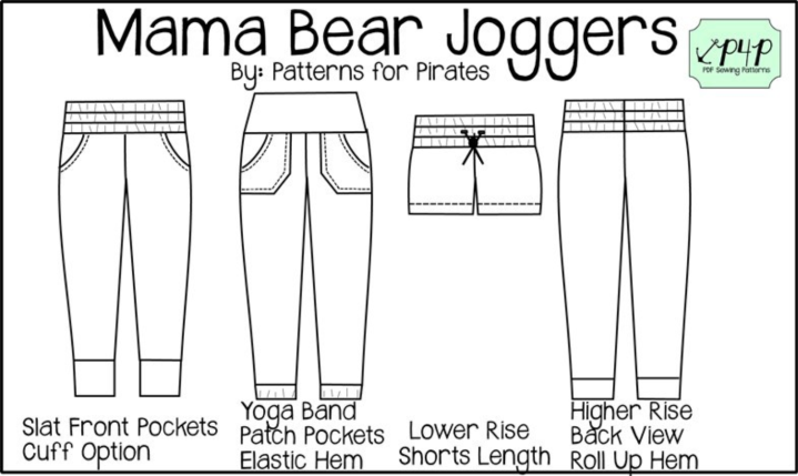 Patterns for Pirates Mama Bear Joggers