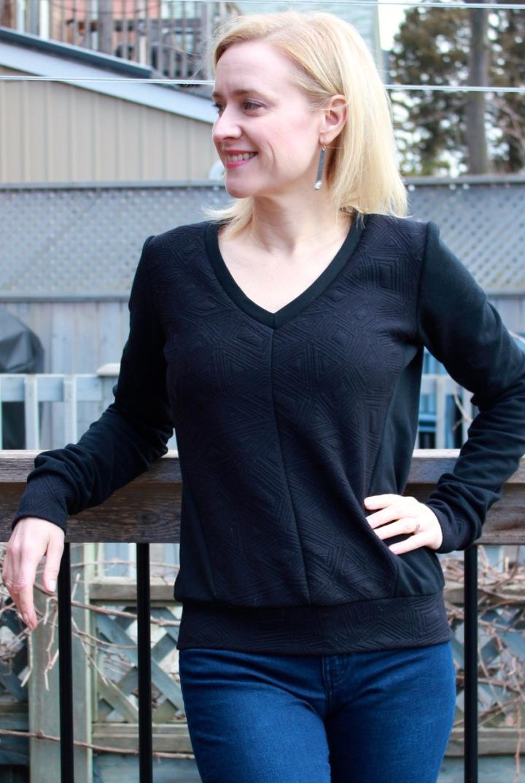 Frivolous at Last - Vogue 9026 sweatshirt