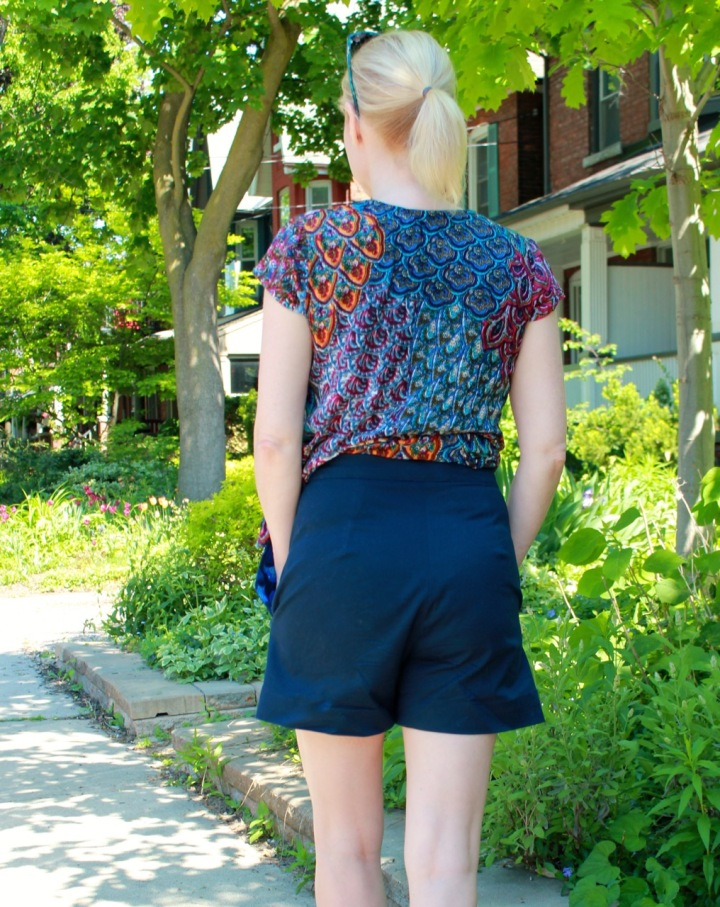 Frivolous At Last - Megan Nielsen Flint Shorts and Grainline Studio Scout Tee