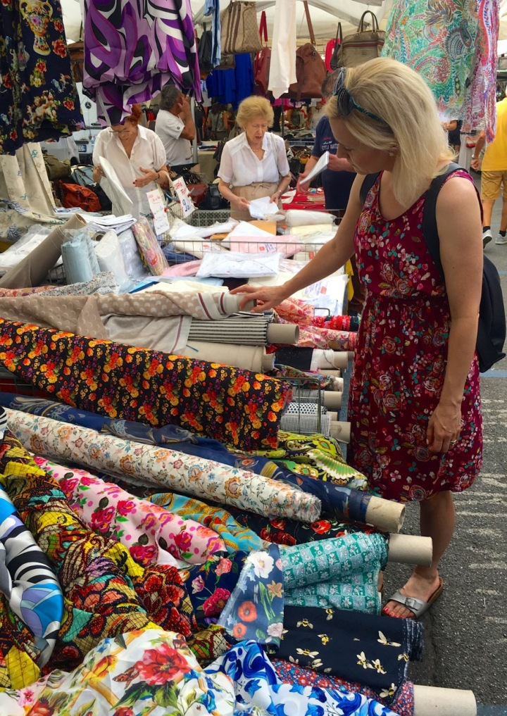 Frivolous at Last - Catalina Dress - at a market in Milan