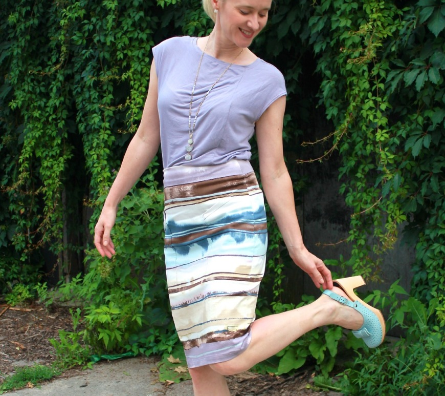 37b736b231 Alberta Street Pencil Skirt in the New Moon's Arms