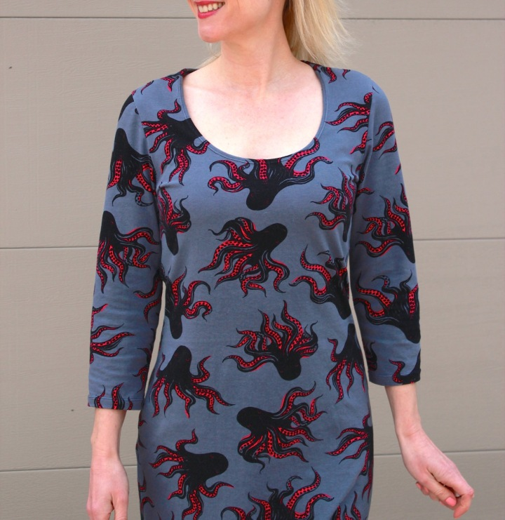 Frivolous at Last - McCall's 6886 octopus dress