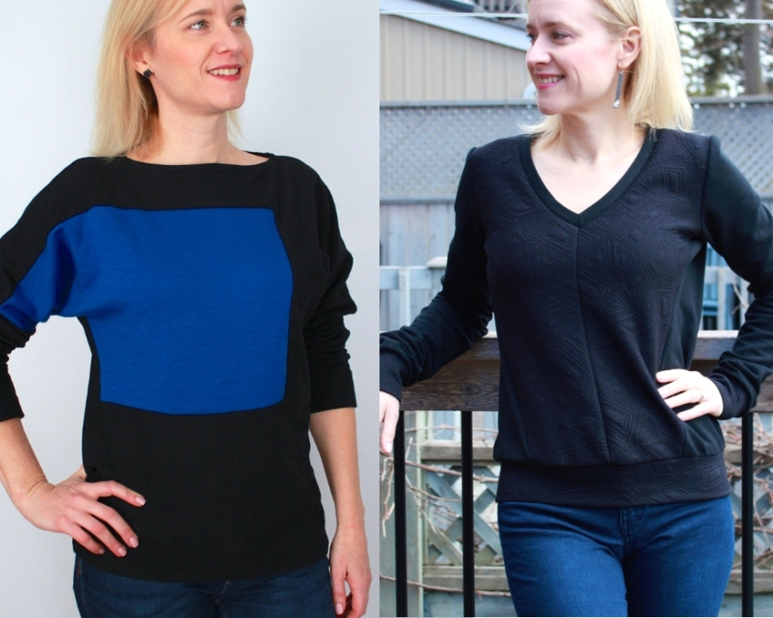 Frivolous at Last - McCall's 6792 and Vogue 9026 sweatshirts