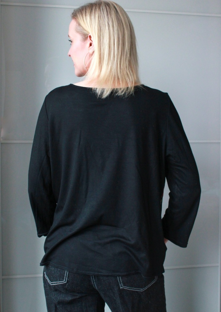 Frivolous at Last - BurdaStyle Wrap Blouse - Back view