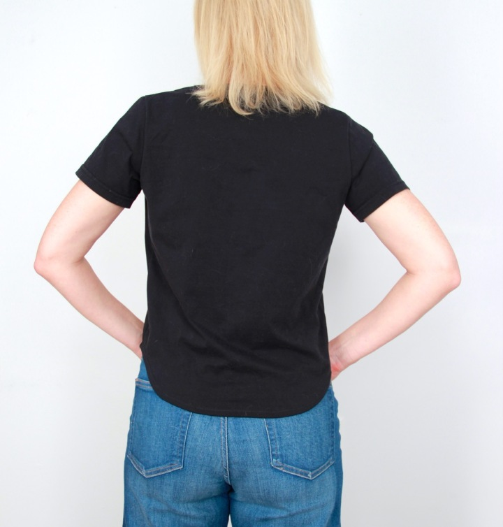 Frivolous at Last - T-shirt refashion using Elbe Textile's free Carine T-shirt pattern