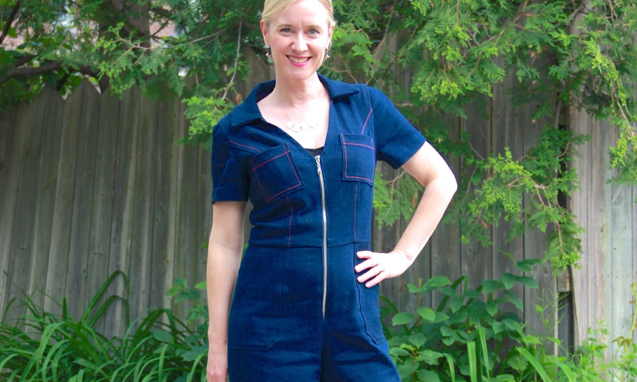 Frivolous at Last - McCall's 7908 denim jumpsuit