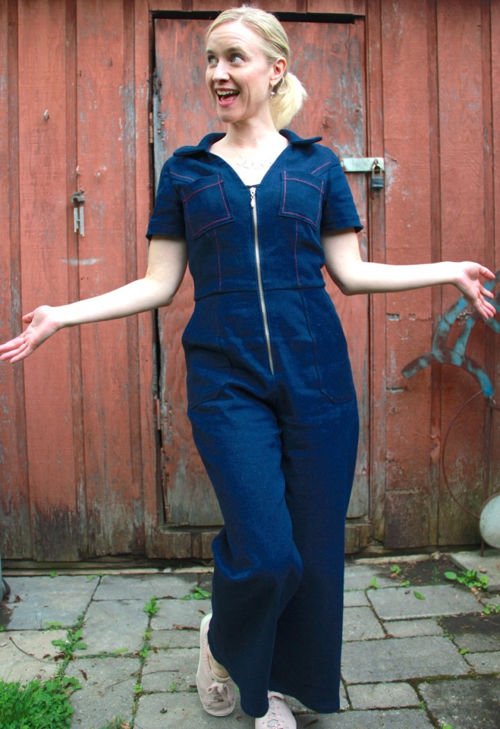Frivolous at Last - McCalls 7908 Denim Jumpsuit