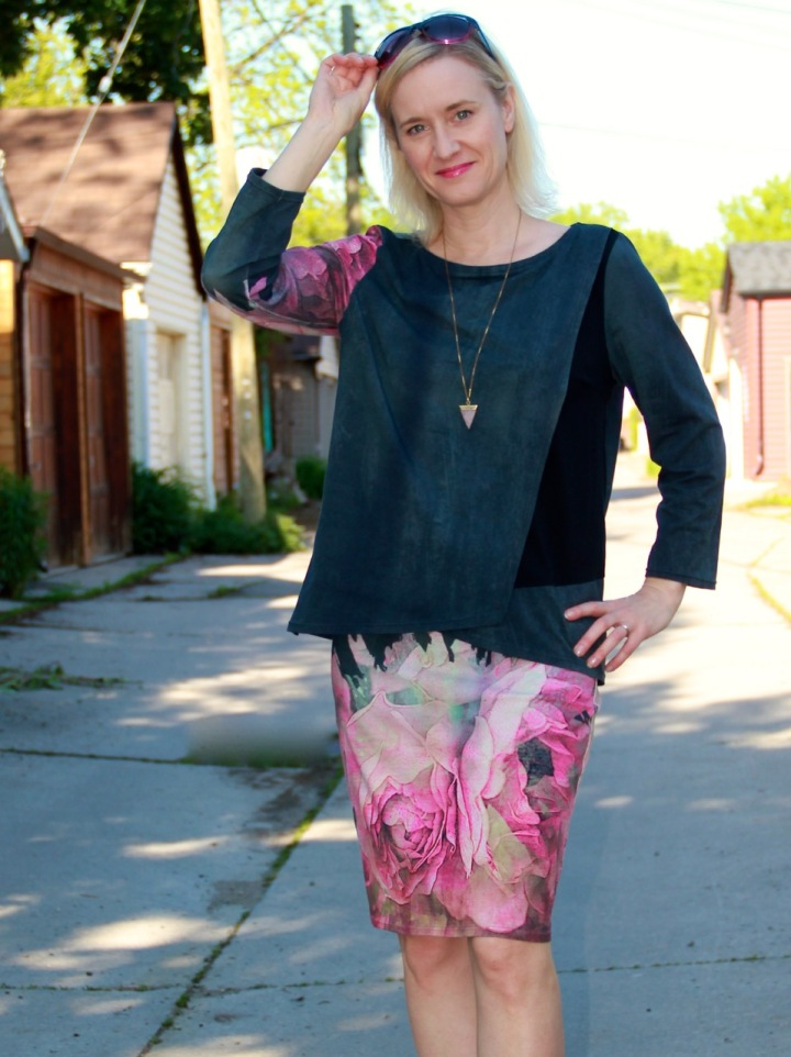 Frivolous at Last - Burda Wrap Blouse and Love Notions Sybil Illusion Skirt