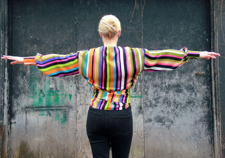 Frivolous at Last - Fibre Mood Wallys Blouse (back view)