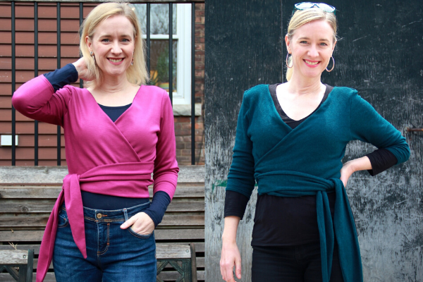 Frivolous at Last - Seamwork Elmira Wrap Tops